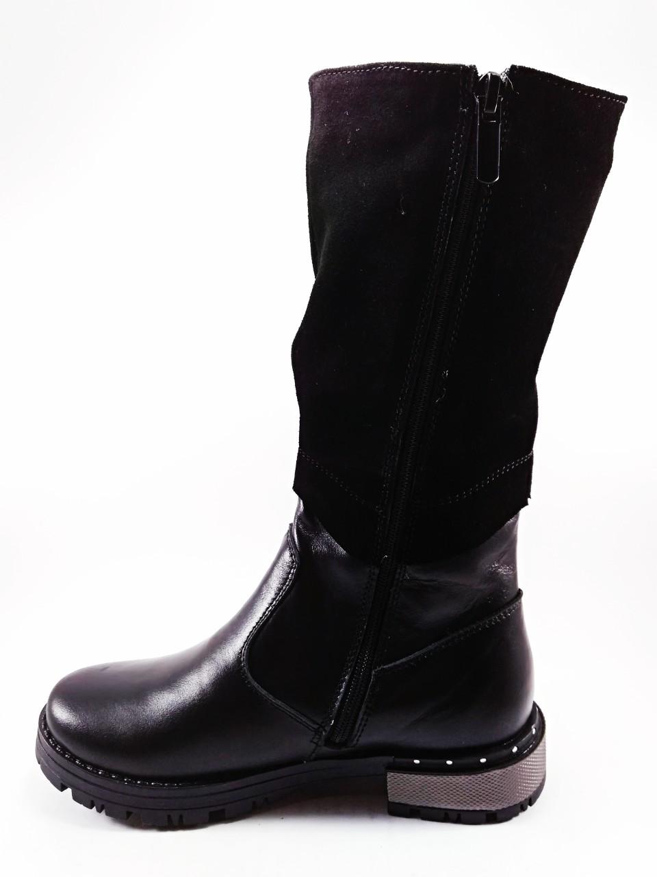 Взуття для дівчат  Чоботи зимові шкіряні чорні 30-38 1deed9b723b47