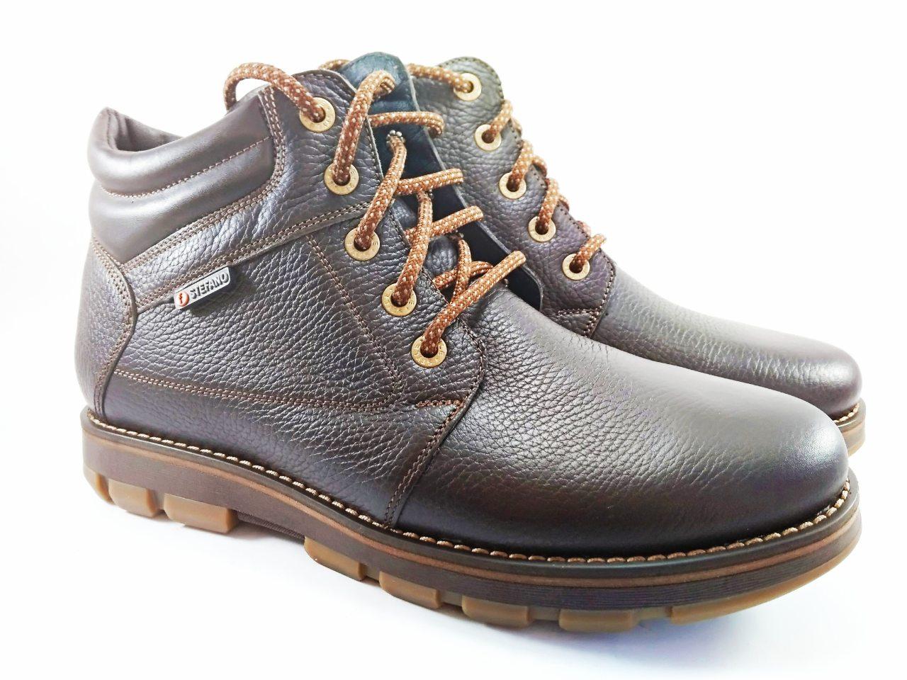 Взуття на сезон  Черевики шкіряні зимові коричневі ТМ Stefano 39-46 31fc5c810d5ea