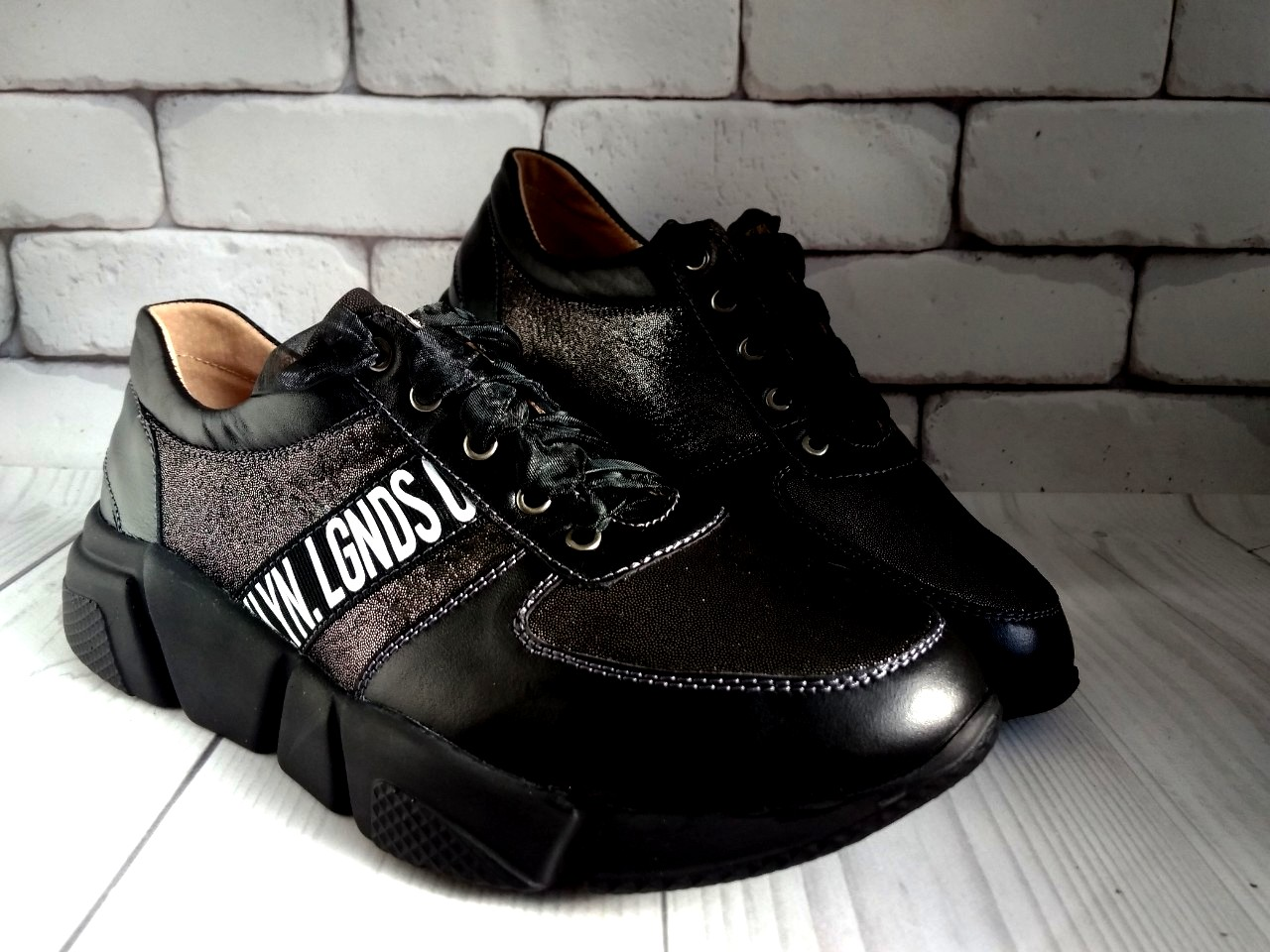3a568863b6a344 Кроссовки кожаные черные 31-36 (11)